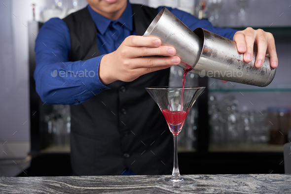 Making cocktail - Stock Photo - Images