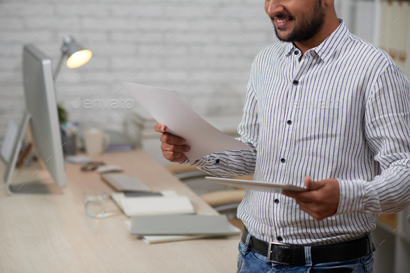 Working with documents - Stock Photo - Images