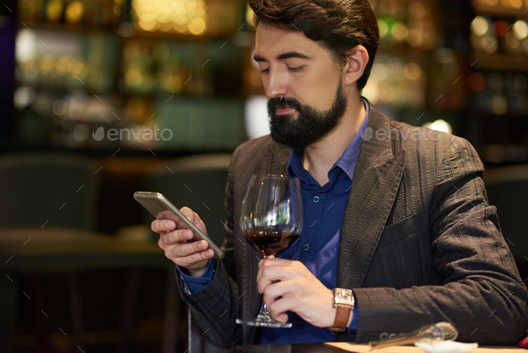 Resting in bar - Stock Photo - Images