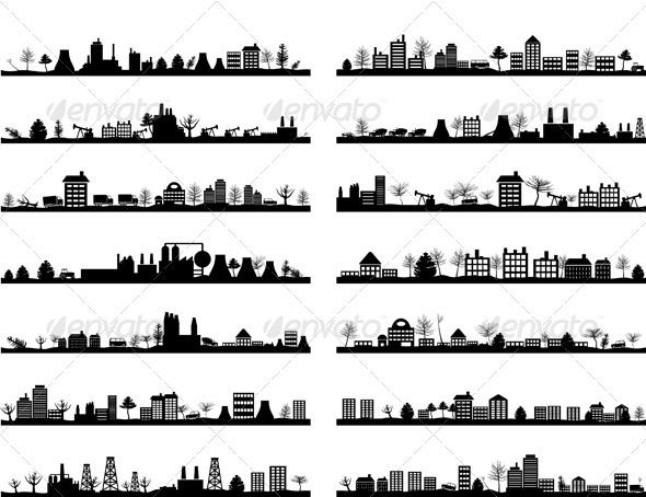 City landscape4 - Buildings Objects