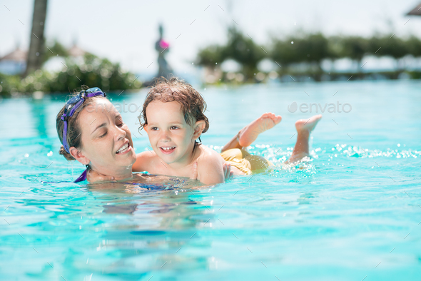Swimming together - Stock Photo - Images