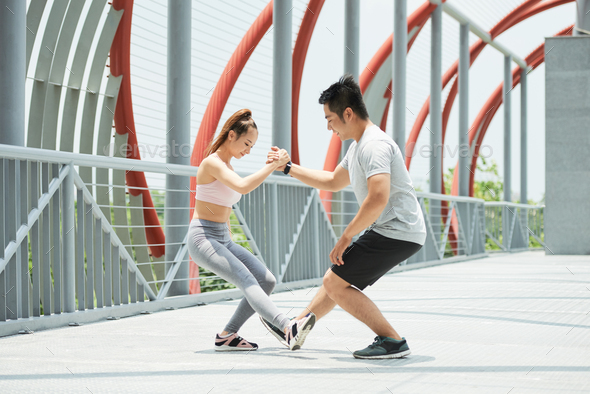 Sporty couple - Stock Photo - Images