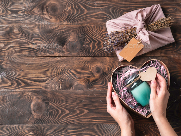 zero waste Valentine's Day concept, copy space - Stock Photo - Images