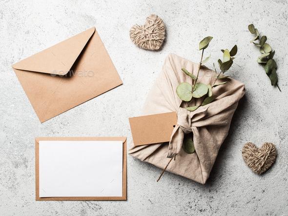 Zero waste Valentine's Day concept, mock up - Stock Photo - Images