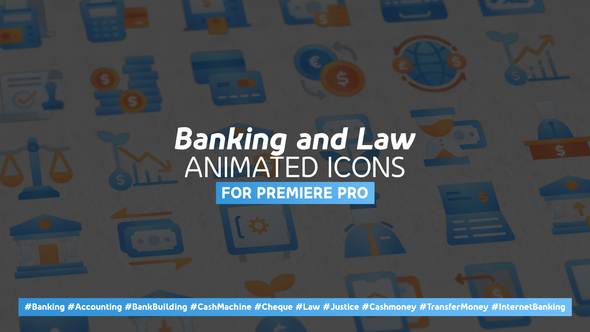 Banking and Law Modern Animated Icons – Mogrt