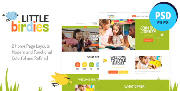 Little Birdies   Multipurpose Children PSD Template