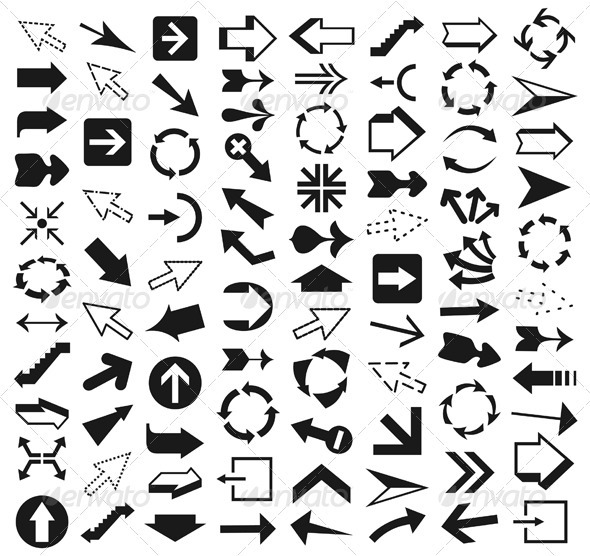 Collection of arrows9 - Web Elements Vectors