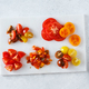 Different tomatoes cut in different ways. Ingredients - PhotoDune Item for Sale