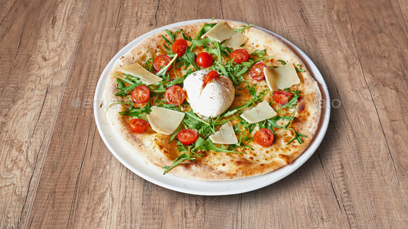 Italian_Food-PIZZA_Buffala - Stock Photo - Images
