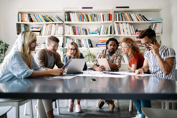 Entrepreneurs desginers architects business people conference in office - Stock Photo - Images