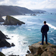 One man enjoying the view of the cliffs of Loiba, Galicia - PhotoDune Item for Sale