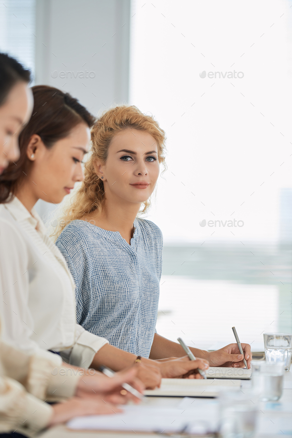 Attending business training - Stock Photo - Images