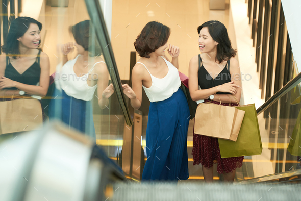 Shopping with best friend - Stock Photo - Images