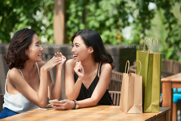 Chatting friends - Stock Photo - Images