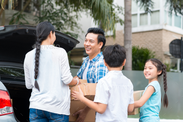 Family moving - Stock Photo - Images
