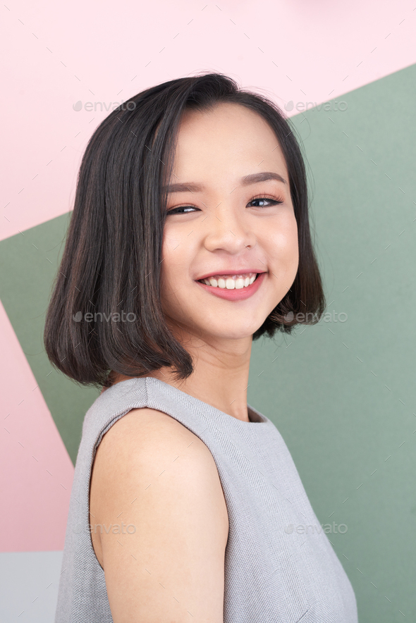 Cheerful pretty girl - Stock Photo - Images
