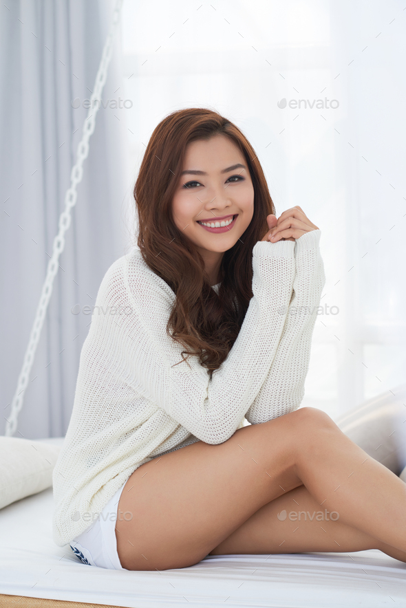 Cheerful pretty woman - Stock Photo - Images