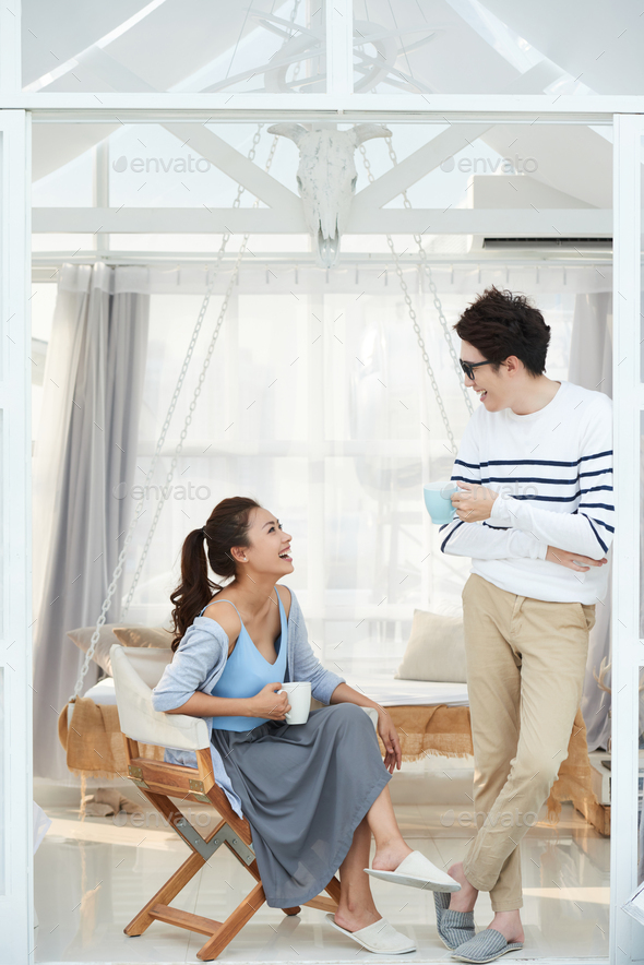 Young couple having fun - Stock Photo - Images
