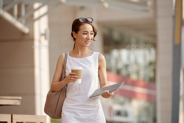 Lovely smiling business lady - Stock Photo - Images