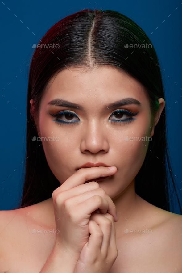 Fashion studio portrait - Stock Photo - Images