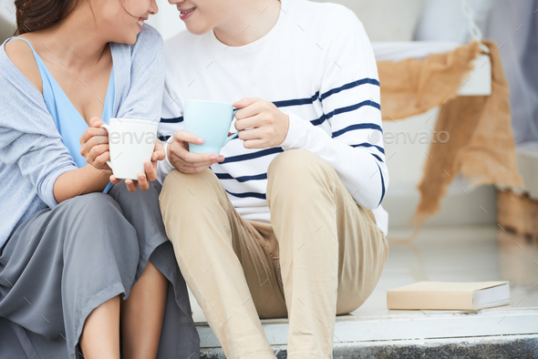 Couple drinking coffee - Stock Photo - Images