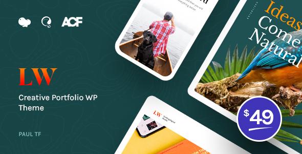 Lewis - Creative Portfolio WordPress Theme by paul_tf