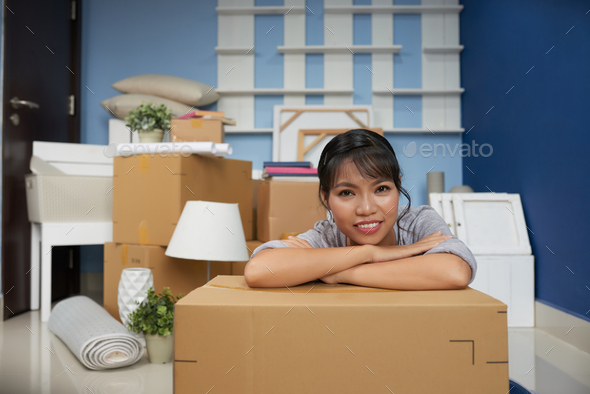 Woman Resting In New Flat - Stock Photo - Images