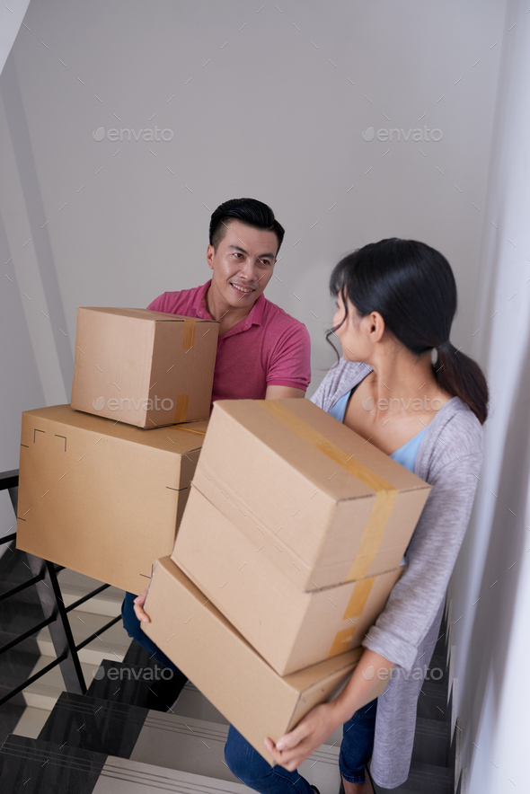 Couple Moving In New Home - Stock Photo - Images