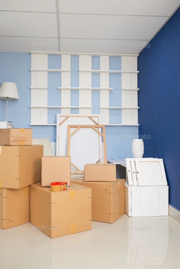 Moving Boxes In New Flat - Stock Photo - Images