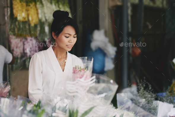Working florist - Stock Photo - Images