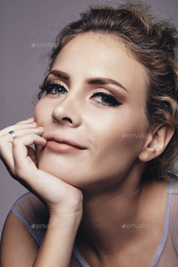 Beautiful smiling woman - Stock Photo - Images