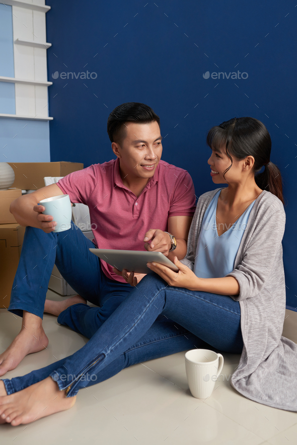 Couple Planning Maintenance - Stock Photo - Images