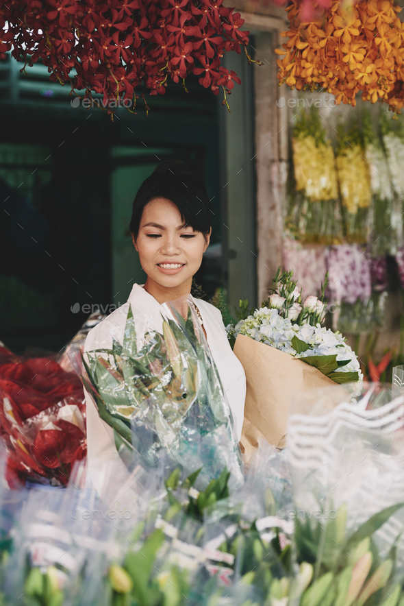 Lovely florist - Stock Photo - Images
