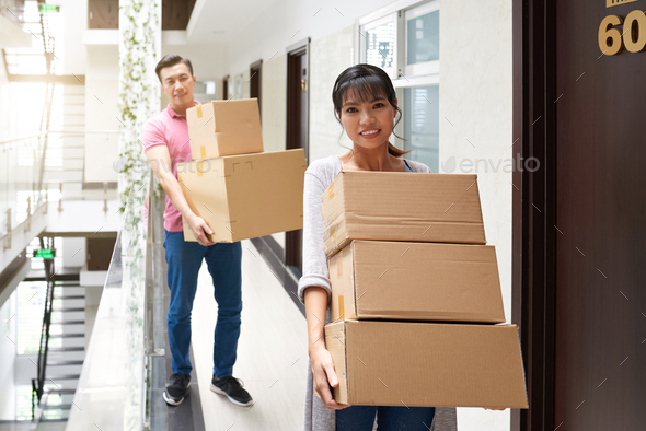 Married Couple Moving In New Flat - Stock Photo - Images