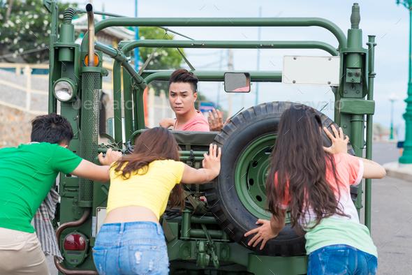 Car break down - Stock Photo - Images
