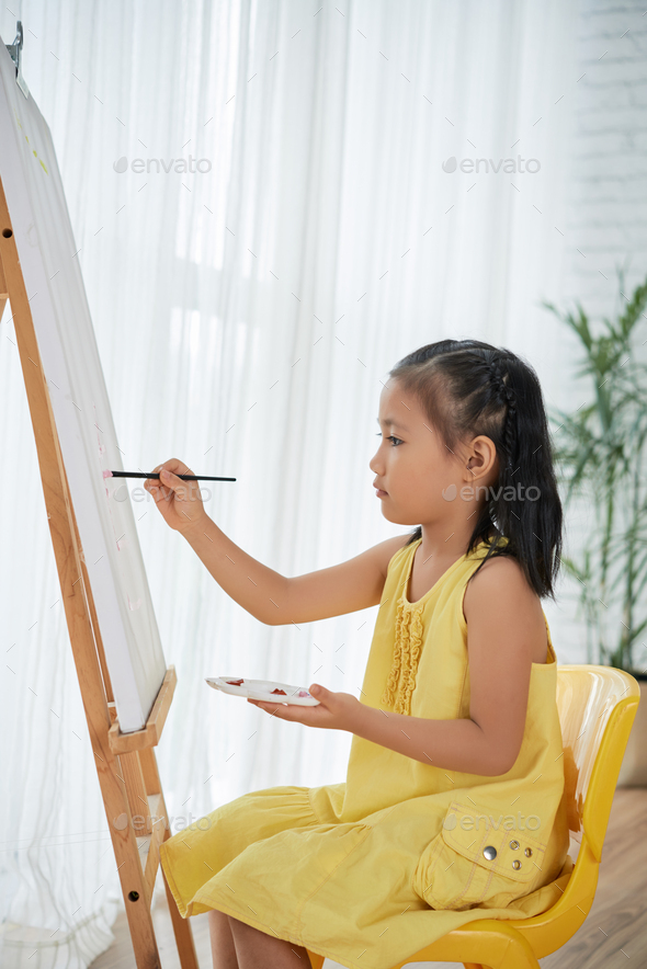 Little artist - Stock Photo - Images