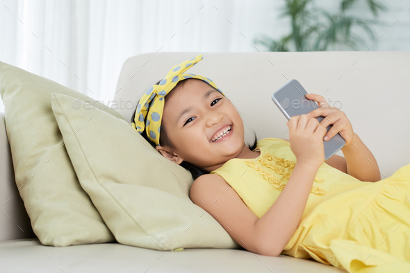 Cheerful girl - Stock Photo - Images