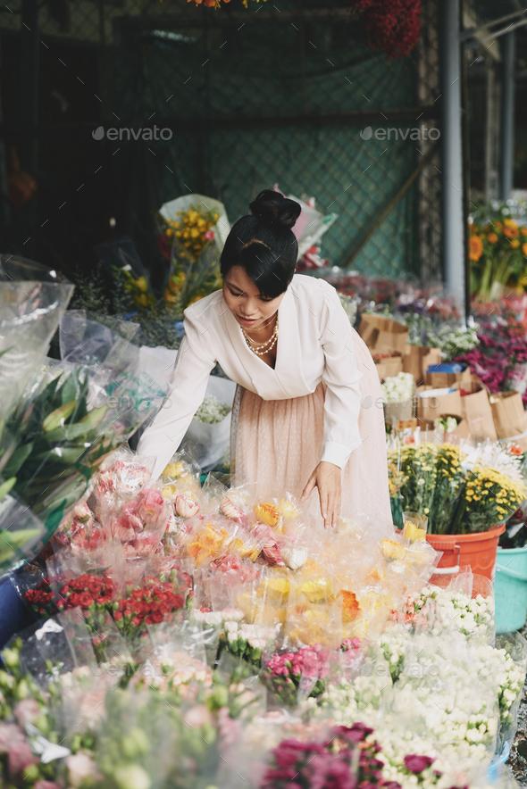 Arranging flowers - Stock Photo - Images