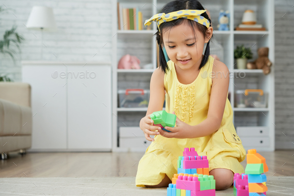 Cute playing girl - Stock Photo - Images
