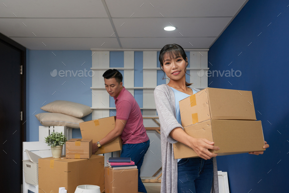 Newlywed Couple In New Flat - Stock Photo - Images