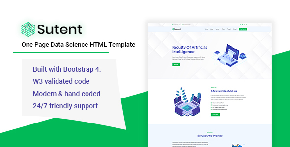 Sutent - Data Science HTML Template