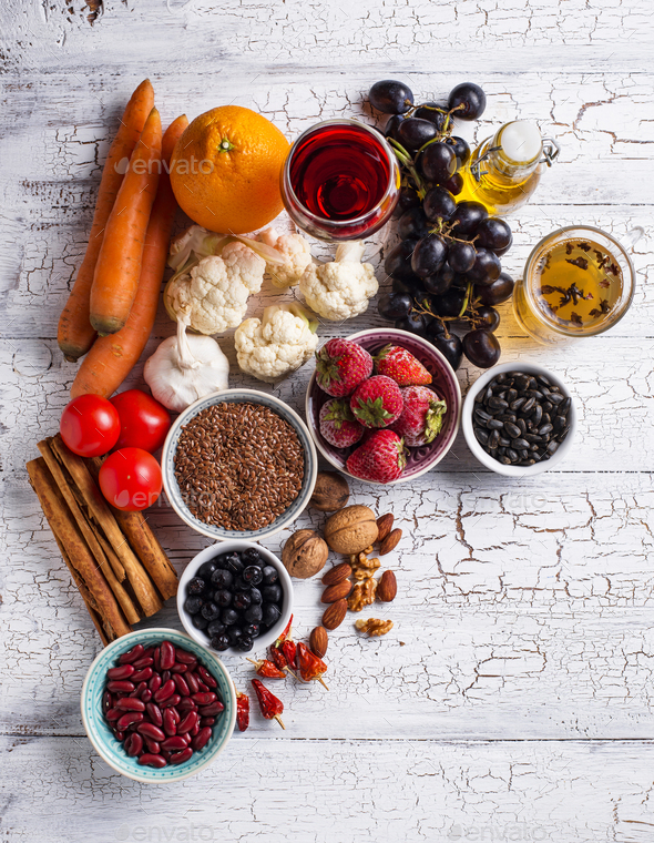 Cancer fighting products. Food for healthy - Stock Photo - Images
