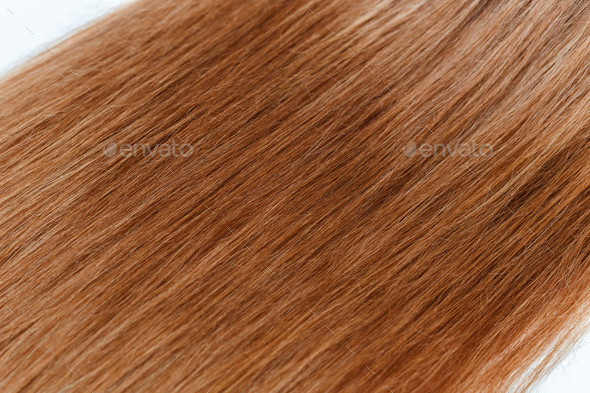 Red Hair over white - Stock Photo - Images