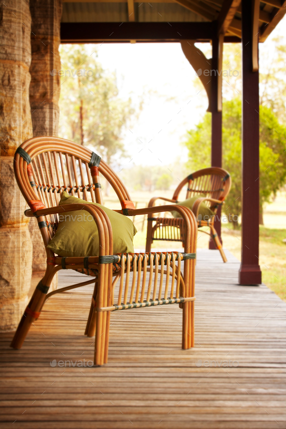Outdoor patio - Stock Photo - Images
