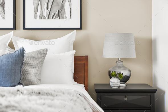 Bedside table - Stock Photo - Images