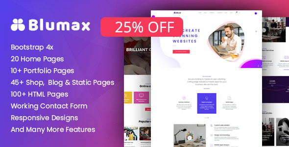 Blumax - Multipurpose Joomla Template