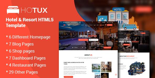 Hotux - Hotel & Resort HTML5 Template by CN-InfoTech
