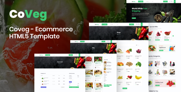 Coveg - Vegetable and Multipurpose Ecommerce Responsive HTML5 Template. by coUI