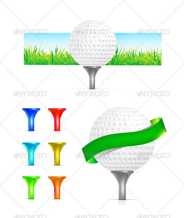 Golf Ball Set - Sports/Activity Conceptual