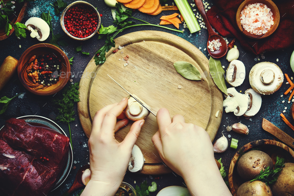 Healthy cooking and eating concept - Stock Photo - Images